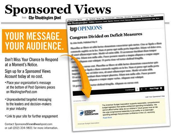 Sponsored views de Washington Post