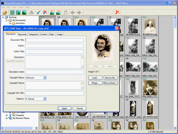 Metadatos IPTC en imágenes digitales